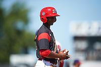 Batavia Muckdogs shortstop Samuel Castro (25) during a game against the Auburn Doubledays on September 5, 2016 at Dwyer Stadium in Batavia, New York.  Batavia defeated Auburn 4-3. (Mike Janes/Four Seam Images)