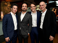 LOS ANGELES - SEPTEMBER 21: (L-R)  Thomas Kail, Lin-Manuel Miranda, Steven Levenson, and Joel Fields attend the FX Networks & Vanity Fair Pre-Emmy Party at Craft LA on September 21, 2019 in Los Angeles, California. (Photo by Frank Micelotta/FX/PictureGroup)