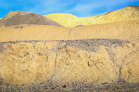 Mustard Canyon in Death Valley National Park, gets it's name and color from borates and oxidized iron in the soil.