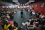 ENCINITAS, CA - MARCH 30:  A general view the Shaolin Monks performing at the West Coast Martial Arts School on March 30, 2015 in Encinitas, California. (Photo by Donald Miralle)