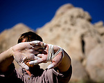 Bouldering at the Buttermilks near Bishop California
