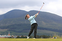 Beth Coulter (Kirkistown Castle) on the 2nd tee during Round 1 of the Women's Amateur Championship at Royal County Down Golf Club in Newcastle Co. Down on Tuesday 11th June 2019.<br />