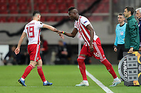 12th March 2020, Pireas, Greece; Europa League football, Olympiakos versus Wolves; Pape Abou Cisse is subbed for GiorgMasouras
