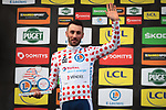 Jonathan Hivert (FRA) Total Direct Energie retains the Polka Dot Jersey on the podium at the end of Stage 4 of the 78th edition of Paris-Nice 2020, and individual time trial running 15.1km around Saint-Amand-Montrond, France. 11th March 2020.<br /> Picture: ASO/Fabien Boukla | Cyclefile<br /> All photos usage must carry mandatory copyright credit (© Cyclefile | ASO/Fabien Boukla)