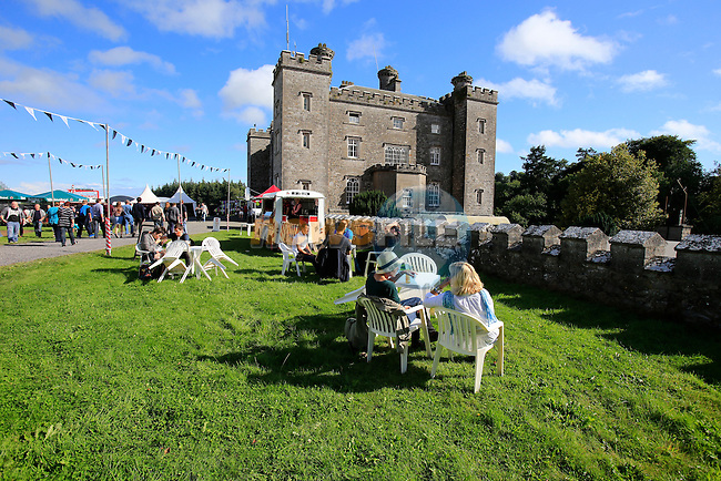 VIP area at the Castle during Slane Eminem Concert 2013. 17th August 2013.<br /> (Photo:Eoin Clarke/www.newsfile.ie)
