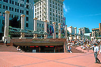Portland: Pioneer Courthouse Square--1980; Martin, Macy, Reynolds, Gill, O'Connell & Kelly, a local firm (of Irishmen?)  The columns are from the old Portland Hotel--razed in 1951.