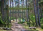Leśno, 2011-07-09. Wejście na teren ścieżki lichenologiczno-kulturowej w Leśnie