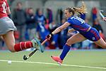 GER - Mannheim, Germany, April 22: During the German Hockey Bundesliga women match between Mannheimer HC (blue) and Club an der Alster (red) on April 22, 2017 at Am Neckarkanal in Mannheim, Germany. Final score 1-1 (HT 1-0).  Flor Habif #18 of Mannheimer HC<br /> <br /> Foto &copy; PIX-Sportfotos *** Foto ist honorarpflichtig! *** Auf Anfrage in hoeherer Qualitaet/Aufloesung. Belegexemplar erbeten. Veroeffentlichung ausschliesslich fuer journalistisch-publizistische Zwecke. For editorial use only.