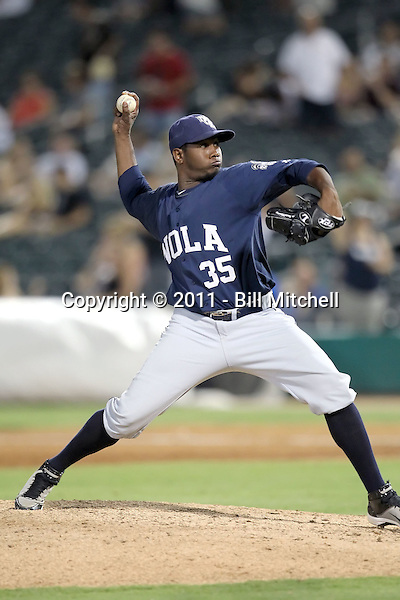Adalberto Mendez - New Orleans Zephyrs - 2011 Pacific Coast League.Photo by Bill Mitchell