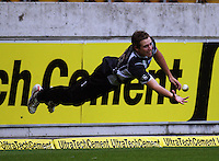 Tim Southee practises catching on the boundary during the 2nd ODI cricket match between the New Zealand Black Caps and India at Westpac Stadium, Wellington, New Zealand on Friday, 6 March 2009. Photo: Dave Lintott / lintottphoto.co.nz