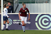 Kerri Welsh of Aston Villa Ladies celebrates scoring the first goal during Tottenham Hotspur Ladies vs Aston Villa Ladies, FA Women's Championship Football at Theobalds Lane on 28th October 2018