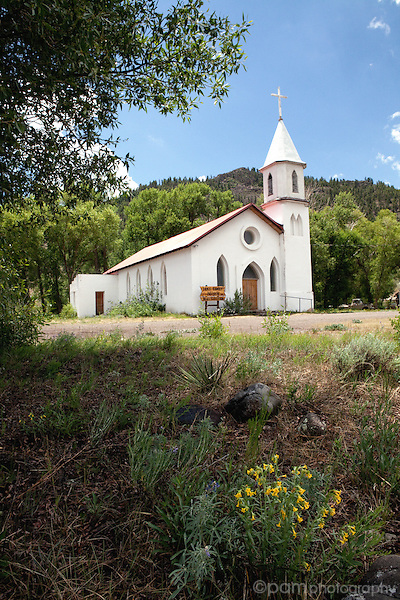 Colorado mountain church in summer