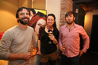 Gary Noel, Emily Noel and Eric Rosenfeld attend the private screening of ABC's new show Selfie at the Wythe Hotel's cinema in Brooklyn on September 24, 2014