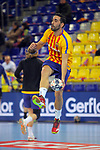 VELUX EHF 2017/18 EHF Men's Champions League Group Phase - Round 11.<br /> FC Barcelona Lassa vs HC Vardar: 29-28.<br /> Valero Rivera.