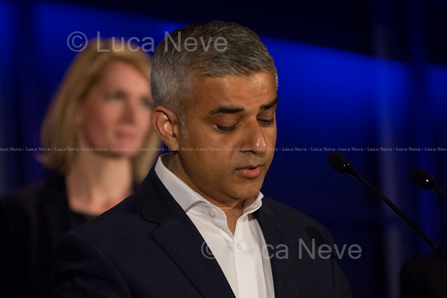 (From L to R) Sophie Walker (Women's Equality Party London Mayor Candidate) &amp; Sadiq Khan MP (Labour Party new Mayor of London).<br />