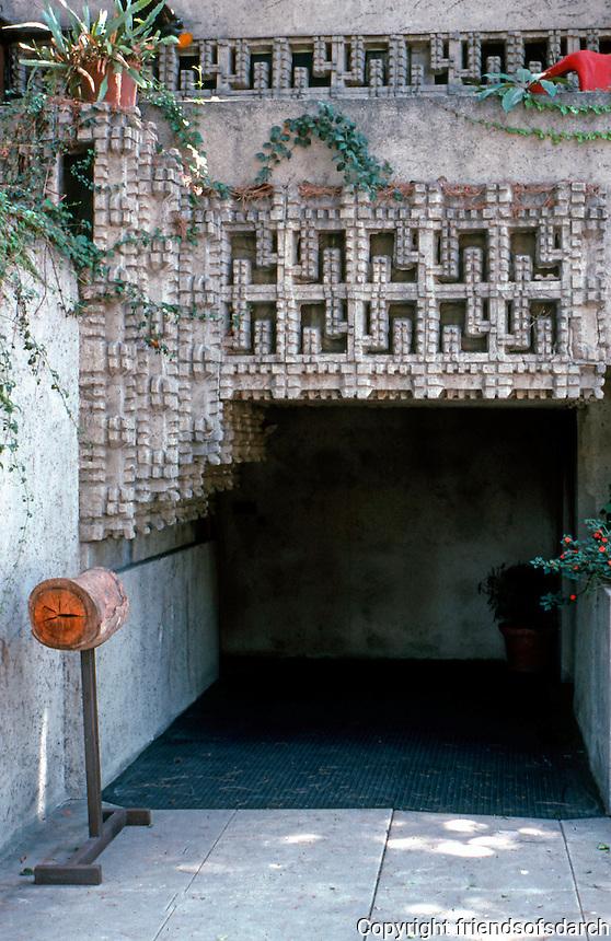Lloyd Wright: Wright House Entrance.  Photo '82.