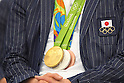 Gold, Silver and Bronze Medal, <br /> AUGUST 17, 2016 - Swimming : Japanese Swimming medalist attend a media conference at Ajinomoto National Training Center, Tokyo, Japan. Japanese Swimming players won 2 gold medals, 2 silver medals and 3 bronze medals in the Rio 2016 Olympic Games. (Photo by AFLO SPORT)
