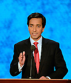 Governor Luis Fortuño (Republican of Puerto Rico) makes remarks at the 2012 Republican National Convention in Tampa Bay, Florida on Wednesday, August 29, 2012.  .Credit: Ron Sachs / CNP.(RESTRICTION: NO New York or New Jersey Newspapers or newspapers within a 75 mile radius of New York City)