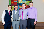 Enjoying the NAGS College Ball at Ballyroe Heights on Thursday were Andrew Bonham, Chris Romagnolo, Paul Dempsey and Christopher Morris