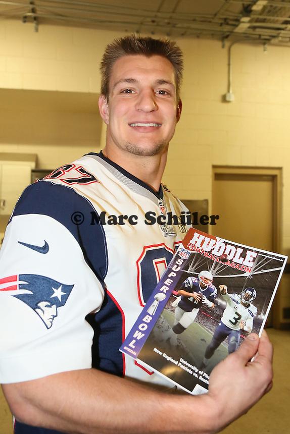 TE Rob Gronkowski (Patriots) - Super Bowl XLIX New England Patriots Team-PK, Sheraton Arizona Grand Hotel