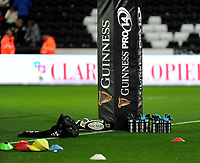 Guinness Pro 14 branding <br /> <br /> Photographer Ashley Crowden/CameraSport<br /> <br /> Guinness Pro14 Round 6 - Ospreys v Scarlets - Saturday 7th October 2017 - Liberty Stadium - Swansea<br /> <br /> World Copyright &copy; 2017 CameraSport. All rights reserved. 43 Linden Ave. Countesthorpe. Leicester. England. LE8 5PG - Tel: +44 (0) 116 277 4147 - admin@camerasport.com - www.camerasport.com