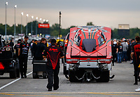 Sep 1, 2017; Clermont, IN, USA; NHRA funny car driver Jonnie Lindberg during qualifying for the US Nationals at Lucas Oil Raceway. Mandatory Credit: Mark J. Rebilas-USA TODAY Sports