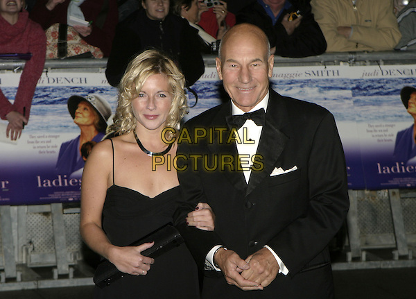 "PATRICK STEWART.""Ladies in Lavender"" Royal Film Performance and premiere, Odeon Leicester Square, London, .November 8th 2004..half length.Ref: AH.www.capitalpictures.com.sales@capitalpictures.com.©Capital Pictures."