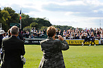Stamford, Lincolnshire, United Kingdom, 8th September 2019, Owners Jane and Jonathan Clarke film Pippa Funnell (GB) & MGH Grafton Street on their lap of honour after winning the 2019 Land Rover Burghley Horse Trials, Credit: Jonathan Clarke/JPC Images