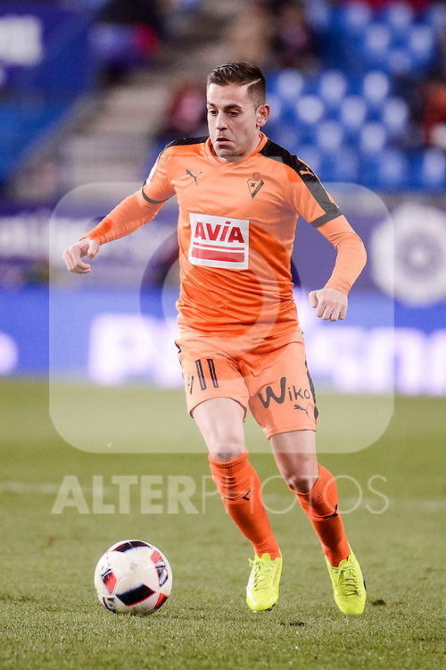 SD Eibar's Ruben Peña Jimenez during Copa del Rey match between Atletico de Madrid and SD Eibar at Vicente Calderon Stadium in Madrid, Spain. January 19, 2017. (ALTERPHOTOS/BorjaB.Hojas)