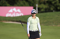 Jodi Ewart Shadoff (ENG) on the 5th green during Thursday's Round 1 of The Evian Championship 2018, held at the Evian Resort Golf Club, Evian-les-Bains, France. 13th September 2018.<br /> Picture: Eoin Clarke | Golffile<br /> <br /> <br /> All photos usage must carry mandatory copyright credit (© Golffile | Eoin Clarke)