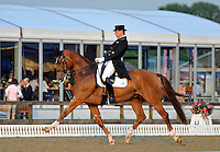 16.05.2014.  Windsor Horse Show London Anders Dahl (DEN) riding Wie-Atlantico de Ymas   during the CD13* FEI Grand Prix Freestyle to music