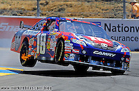 Jun. 21, 2009; Sonoma, CA, USA; NASCAR Sprint Cup Series driver Kyle Busch during the SaveMart 350 at Infineon Raceway. Mandatory Credit: Mark J. Rebilas-US PRESSWIRE