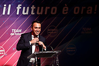 Luigi Di Maio taking off his tie, as sign of resignation<br /> Rome January 22nd 2020. Press conference of the Italian Minister of Foreign Affairs to announce that he quits as Movement 5 Stars leader.<br /> Foto Samantha Zucchi Insidefoto