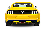 Straight rear view of 2016 Ford Mustang EcoBoost 2 Door Coupe Rear View  stock images