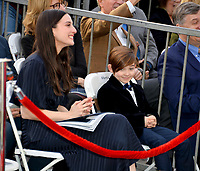 LOS ANGELES, CA. January 22, 2019: Maria Valverde & Martin Dudamel at ceremony where conductor Gustavo Dudamel received a star on the Hollywood Walk of Fame.<br /> Picture: Paul Smith/Featureflash