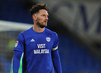 Cardiff City's Sean Morrison<br /> <br /> Photographer Kevin Barnes/CameraSport<br /> <br /> The EFL Sky Bet Championship - Cardiff City v Bolton Wanderers - Tuesday 13th February 2018 - Cardiff City Stadium - Cardiff<br /> <br /> World Copyright &copy; 2018 CameraSport. All rights reserved. 43 Linden Ave. Countesthorpe. Leicester. England. LE8 5PG - Tel: +44 (0) 116 277 4147 - admin@camerasport.com - www.camerasport.com