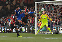 Cardiff City's Sean Morrison (left) battles with Bournemouth's Steve Cook (right) <br /> <br /> Photographer David Horton/CameraSport<br /> <br /> The Premier League - Bournemouth v Cardiff City - Saturday August 11th 2018 - Vitality Stadium - Bournemouth<br /> <br /> World Copyright &copy; 2018 CameraSport. All rights reserved. 43 Linden Ave. Countesthorpe. Leicester. England. LE8 5PG - Tel: +44 (0) 116 277 4147 - admin@camerasport.com - www.camerasport.com