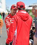 06.06.2019, Circuit Gilles Villeneuve, Montreal, FORMULA 1 GRAND PRIX DU CANADA, 07. - 09.06.2019<br /> , im Bild<br />Sebastian Vettel (GER#5), Scuderia Ferrari Mission Winnow begrüßt Charles Leclerc (MCO#16), Scuderia Ferrari Mission Winnow<br /><br /> <br /> Foto © nordphoto / Bratic