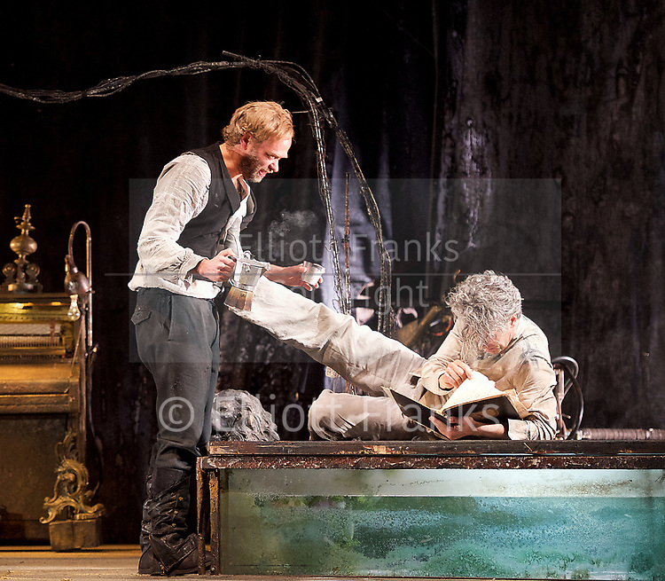 The Toad Knew <br /> James Thierree / Compagnie du Hanneton <br /> at Sadler's Wells, London, Great Britain <br /> Press photocall <br /> 3rd may 2017 <br /> <br /> Herve Lassince <br /> <br /> <br /> <br /> James Thierree<br /> <br /> <br /> <br /> <br /> <br /> <br /> <br /> <br /> Photograph by Elliott Franks <br /> Image licensed to Elliott Franks Photography Services