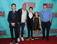NEW YORK, NY - OCTOBER 01: Griffin Gluck, Steve Carr, Thomas Barbusca, Alexa Nisenson an James Patterson attends the New York Screening of Middle School: The Worst Years of My Life at Regal E-Walk on October 1, 2016 in New York City. Photo Credit: John Palmer/MediaPunch