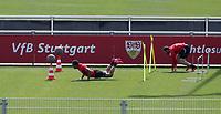 21st April 2020; Stuttgart, Germany  VfB Stuttgart Training: Roberto Massimo, Gonzalo Castro Training during the covid-19 pandemic
