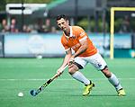 BLOEMENDAAL   - Hockey - Jamie Dwyer (Bldaal) . 3e en beslissende  wedstrijd halve finale Play Offs heren. Bloemendaal-Amsterdam (0-3). Amsterdam plaats zich voor de finale.  COPYRIGHT KOEN SUYK