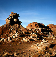 Surreal red rock formations in the PAINTED DESERT, ARIZONA