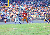 Washington Redskins quarterback Sonny Jurgensen (9) scrambles as he looks for a receiver during the game against the <br /> New York Giants at RFK Stadium in Washington, DC on October 19, 1969. The Redskins won the game 20 -14.<br /> Credit: Arnie Sachs / CNP