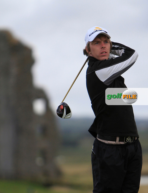 David Foy (Laytown/Bettystown) on the 13th tee during the South of Ireland Amateur Open Championship Third Round at Lahinch Golf Club  29th July 2013 <br /> Picture:  Thos Caffrey / www.golffile.ie