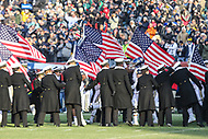 Philadelphia, PA - December 8, 2018:   Navy Midshipmen before the 119th game between Army vs Navy at Lincoln Financial Field in Philadelphia, PA. (Photo by Elliott Brown/Media Images International)