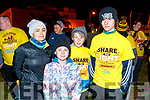 Caroline Doyle, Bríd Doyle O'Brien, Ciarán O'Brien and Dáire Doyle O'Brien, all from Tralee, pictured at the Darkness Into Light walk, Tralee, on Saturday last.