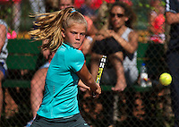Netherlands, Dordrecht, August 03, 2015, Tennis,  National Junior Championships, NJK, TV Dash 35, Clarine Lerby<br /> Photo: Tennisimages/Henk Koster