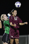 9 November 2007: Florida State's Libby Gianeskis (12) heads the ball in front of teammate Erin McNulty (left). Florida State University defeated Wake Forest University 5-2  at the Disney Wide World of Sports complex in Orlando, FL in an Atlantic Coast Conference tournament semifinal match.