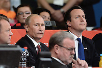 London 02/08/2012 Il presidente russo Vladimir Putin assiste alle competizioni di Judo con il primo ministro britannico David Cameron..London 2012   ExCel Arena Olympic games - Olimpiadi Londra 2012.Judo .Foto  Anthony Bibard / Panoramic / Insidefoto.ITALY ONLY